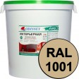Краска интерьерная для стен бежевая RAL 1001 ВДАК-202 EURO - евробак 45 кг