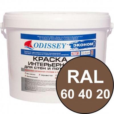 Краска интерьерная для стен кофейная RAL 060 40 20 ВДАК-202 ECON - ведро 14 кг