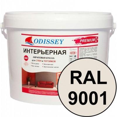 Краска интерьерная для стен кремовая RAL 9001 ВДАК-202 PREMIUM - ведро 15 кг