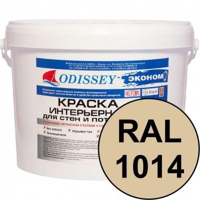 Краска интерьерная для стен слоновая кость RAL 1014 ВДАК-202 ECON - ведро 15 кг