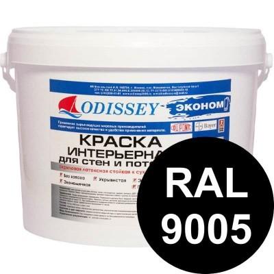Краска интерьерная черная (RAL 9005) ВДАК-202 EKOSTANDART класса КМ1 - 14 кг