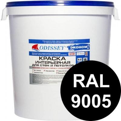 Краска интерьерная черная (RAL 9005) ВДАК-202 EKOSTANDART класса КМ1 - 45 кг