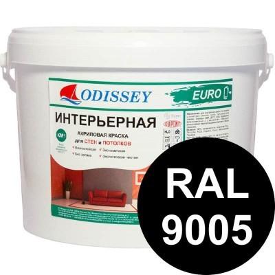 Краска интерьерная черная RAL 9005 ВДАК-202 EURO - 14 кг