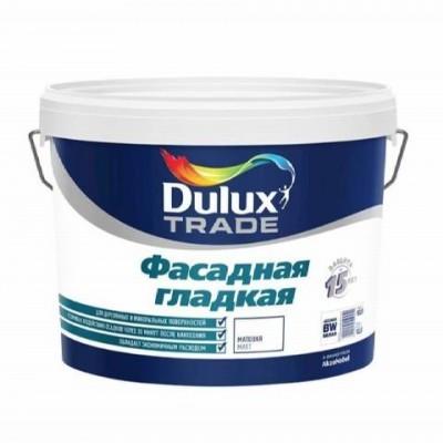 Краска DULUX ФАСАДНАЯ ГЛАДКАЯ - база BW - 10 литров