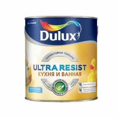 DULUX ULTRA RESIST КУХНЯ И ВАННАЯ - база BW - 2,5 литра - полуматовая