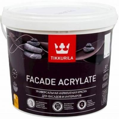 TIKKURILA FACADE ACRYLATE | ТИККУРИЛА ФАСАД АКРИЛАТ – универсальная акрилатная краска для фасадов и интерьеров