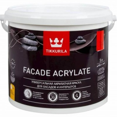 TIKKURILA FACADE ACRYLATE | ТИККУРИЛА ФАСАД АКРИЛАТ - База С - 5 литров