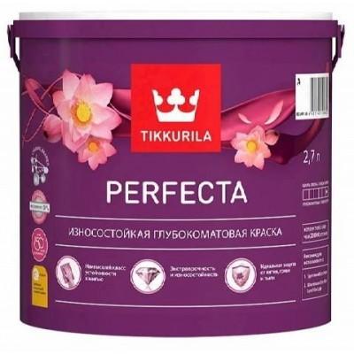 TIKKURILA PERFECTA | ТИККУРИЛА ПЕРФЕКТА - база А - 2,7 литра - износостойкая краска для стен, потолков и обоев