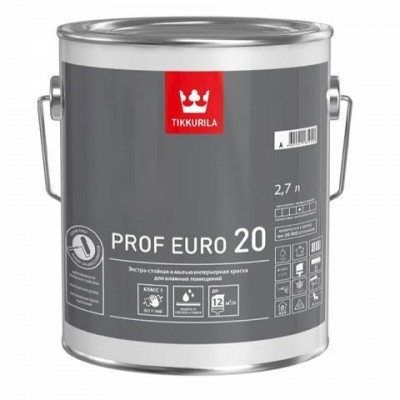 TIKKURILA PROF EURO 20 - база С - 2,7 литра