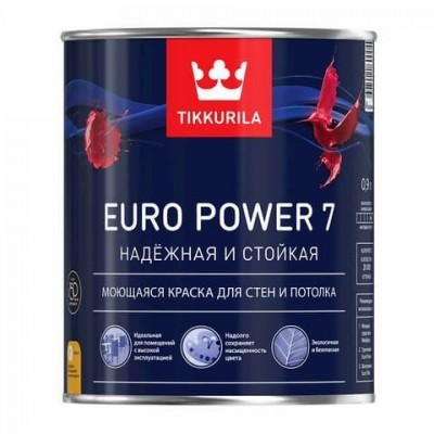 TIKKURILA EURO POWER 7 | ТИККУРИЛА ЕВРО ПАУЭР 7 - база С - 0,9 литра