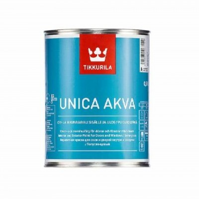 TIKKURILA UNICA AKVA MAALI | ТИККУРИЛА УНИКА АКВА МААЛИ - База C - 0,9 литра