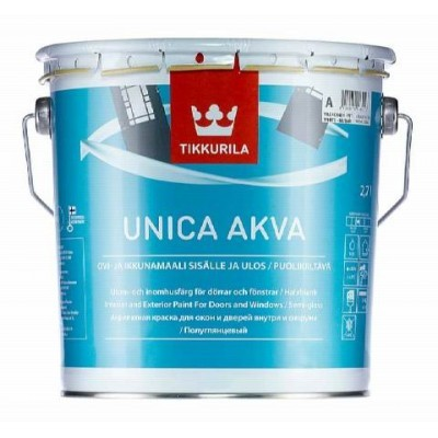 TIKKURILA UNICA AKVA MAALI | ТИККУРИЛА УНИКА АКВА МААЛИ - База C - 2,7 литра